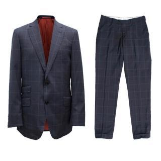 Suitsupply Men's Blue Check Suit