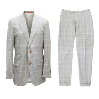 SuitSupply Grey Checked Suit Set