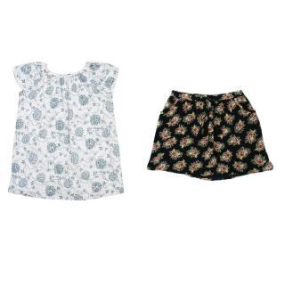 Bonpoint Floral Dress and C de C Skirt Set