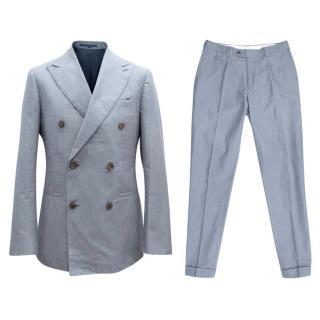 Suitsupply Blue Cotton Suit