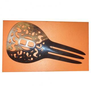 Hermes buffalo horn hair slide