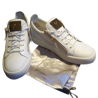 Giuseppe Zanotti white leather low sneakers