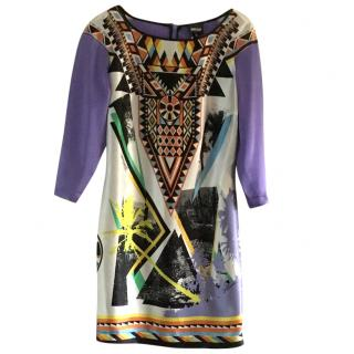 Just Cavalli Purple Silk Dress