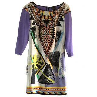 Just Cavalli Purple Silk Dress