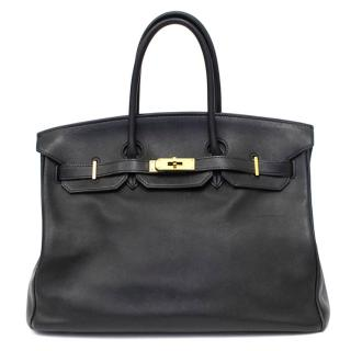 Hermes Black Swift Leather 35cm Birkin