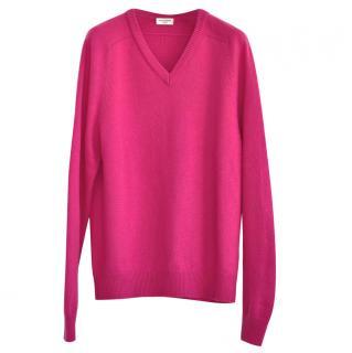 Saint Laurent pink cashmere jumper