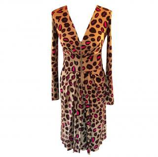 Issa Leopard Lips dress
