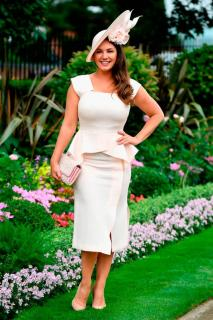 Roland Mouret Blush Sawleigh Cap-Sleeve Peplum Dress