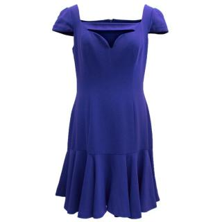 Alexander McQueen Blue Dress With Bodice Cut-Out