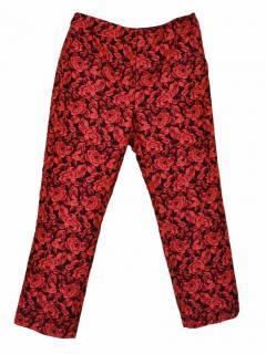 Erdem roses red trouser