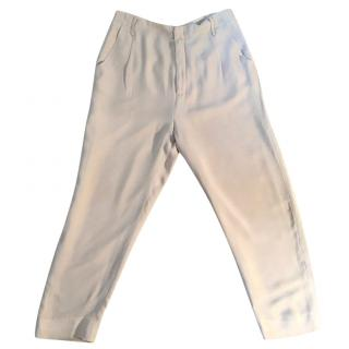RAOUL Silk Tan Tailored Trousers
