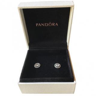 Pandora diamonte stud earrings