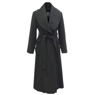 Aquascutum belted longline wool coat