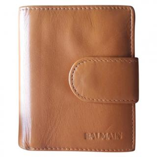 Balmain Leather Tri-fold Wallet