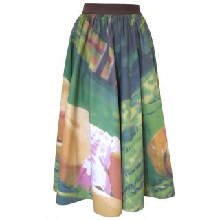 Valevskaya skirt with photographic painter image