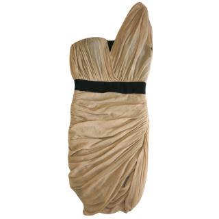 Alexander Wang One-Shoulder Corset Dress
