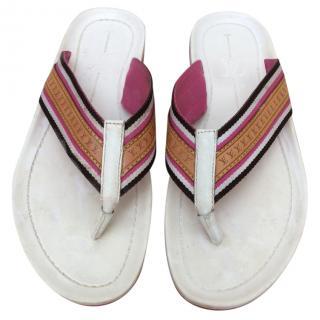 Louis Vuitton pink flip flops