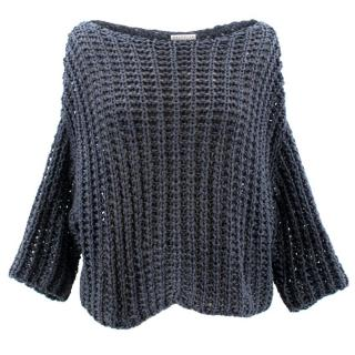 Brunello Cucinelli Blue Knit Top