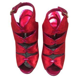 Tom Ford red/fuschia heels