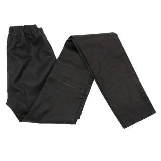 Joseph Black Leather Stretch Leggings
