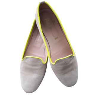 Pretty Ballerinas beige and neon yellow flats