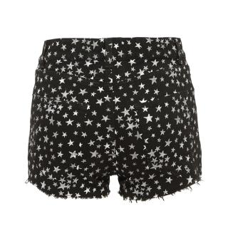 Saint Laurent Star Black and White Shorts