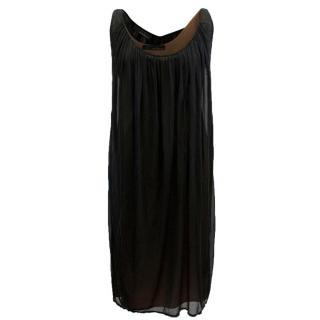 Amanda Wakeley Black and Brown Layer Dress