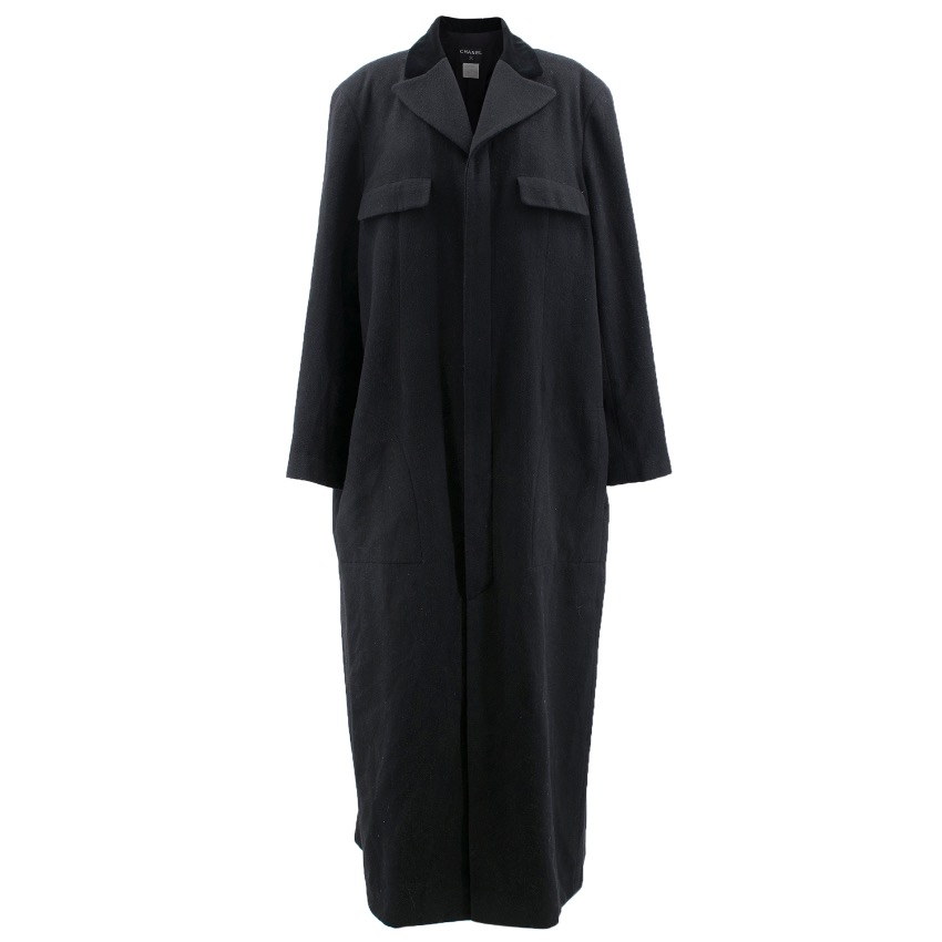 Chanel Black Cashmere Long Coat