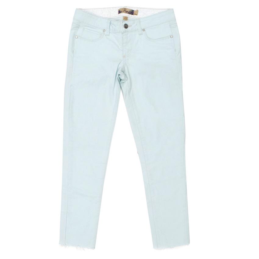 Paige Light Blue Straight Leg Jeans