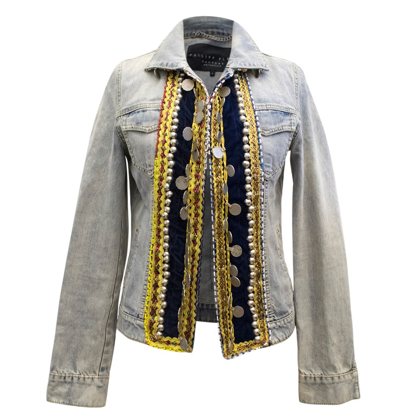 Phillip Plein Couture Embellished Denim Jacket