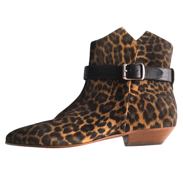 c44b0f53e5cb Saint Laurent Leopard Print Boots | HEWI London