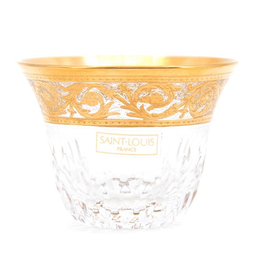 Hermes St. Louis Thistle Gold 6 Tea/Shot Glasses