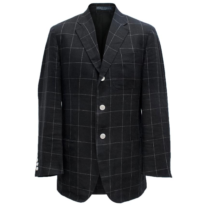 Ralph Lauren Check Monochrome Blazer
