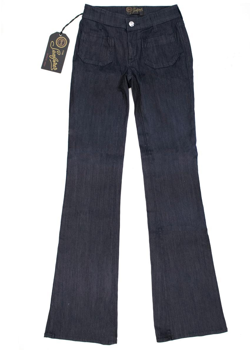 The Seafarer Indigo blue flared jeans