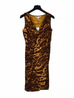 Diane Von Furstenberg animal print brown short dress