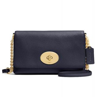 Coach Crossbody Leather Clutch
