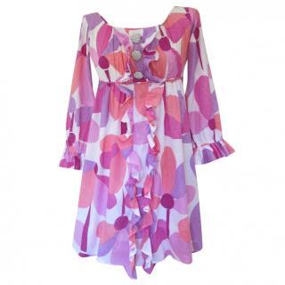 Le Shack Ruffled printed summer dress