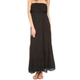 Melissa Odabash Black Crochet Maxi Dress