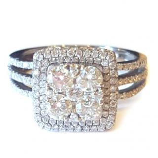 Diamond Cluster Ring 18ct Gold 2.20ct