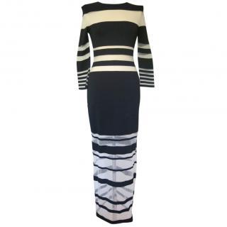 Louise Goldin Striped Maxi dress