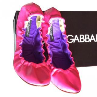 Dolce & Gabbana Pink Ballerina Flats