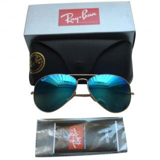 Ray Ban Blue Mirror Sunglasses Large
