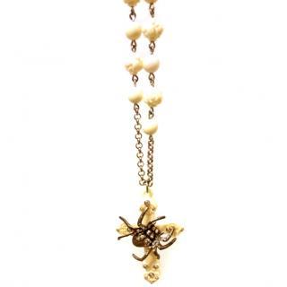 Tarina Tarantino Swarovski Crystal Rosary Pendant Necklace