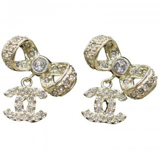Chanel Bow Earrings
