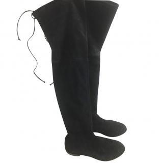Stuart Weitzman black lowland suede boots
