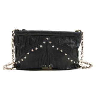 Jimmy Choo Black Star Studded Cross Body Bag