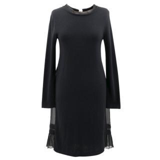 Philosophy di Alberta Ferretti Black Long Sleeve Knit Dress
