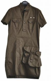 Dsquared2 khaki cotton dress