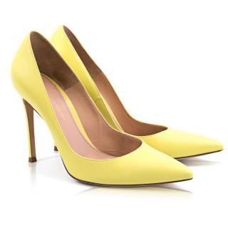 Gianvito Rossi Nappa Lemon Heels