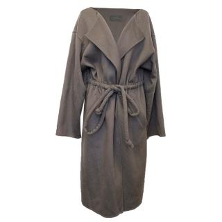 Halston Brown Cashmere Coat
